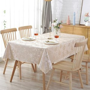 New Jacquard Printed Flower Tablecloth Pattern Tablecloth Rectangular Banquet Wedding Party Hotel Decoration