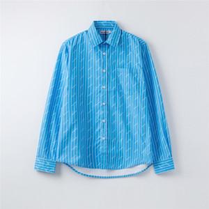 2020 Designer Mens Shirts Marca das mulheres Blusa Primavera Outono manga comprida Overshirts Luxo lapela pescoço Carta Imprimir Moda shirt B1 2040203V