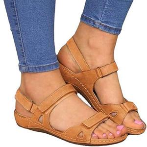 Kadınlar için Sandalet Geniş Genişlik, Düz Sandalet Casual Yılan derisi Açık Burun Lace Up Platformu Topuklar Rahat Sandal Ayakkabı