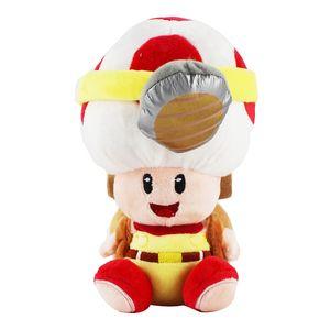 1pc 19 centímetros Super Mario Bros cogumelo Toad Plush Toys Capitão Toad Treasure Rastreador Macio Stuffed Toys caçoa o presente