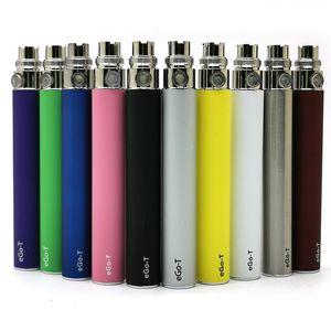 eGo-T Akku 650mAh 900mAh 1100mAh Vape Pen Akku E-Zigarette Batterien 510 Threading 10 Farben 5pcs / Pack für eJuice Atomizer Vaporizer