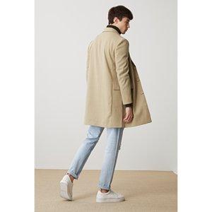 New fur coat in autumn and winter 2020 Men's medium and long suit collar jacket