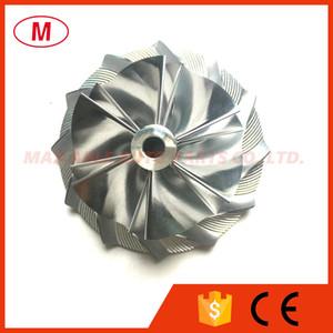 TD04HL 44.00 / 61.01mm 6 + 6 palas Forward Turbo Billet Compresor rueda / Aluminio rueda del compresor 2618 / fresado para turbocompresor