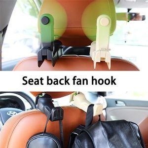 kongyide Autositz zurück Lagerung Haken Creative Multi-Funktions-Two-in-one Fan Haken USB-Schnittstelle hinten Auto-Sitz Fan