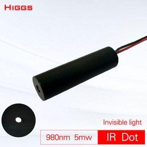 تماما 980nm غير مرئية 5mw والأشعة تحت الحمراء وحدة ليزر نقطة منخفضة الطاقة IR قاذفة إسقاط اتصال يلة مؤشر الصيد البصر