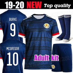 2020 SCOTLAND كرة القدم البلوزات منزل BOBERTSON 2 FRASER 11 ARMSTRONG 18 BURKE 9 CcGREGOR 10 فورست 7 19 20 طقم الكبار قمصان كرة القدم
