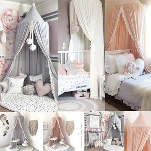 Kinder Baby Betthimmel Netting Bettdecke Moskitonetz Vorhang Bettwäsche Dome Single