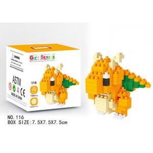Çocuklar Oyuncak Manken Yapı Setleri Çocuk Karikatür Hayvan Eğitici Oyuncaklar Erkek Çocuklar Yapı Taşları Plastik oyuncaklar Bloklar