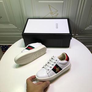 Crianças Tênis de Grife Meninas Abelhas de Luxo Bordado Impressão Sapatos Baixos Meninos Sapatos de Skate Heterocromáticos EUR 25-35 2020 Primavera