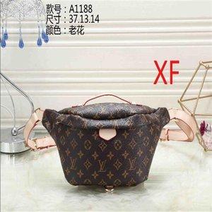 Classic Plaid waist bag women's casual leather case bag outdoor sports Zipper Shoulder Travel Beach belt handbag