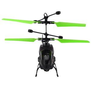 Mini RC Infraed Indução helicóptero Aircraft Flashing Light Toys mini-drones Christmas Gift # 4D20