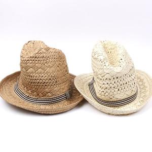 Cap Gangster Cap Popular Handwork Mulheres Verão Straw Sun Hat Boho Praia Fedora Hat Sunhat Trilby Homens Panama Boa Pacote