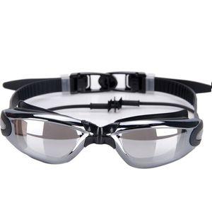 Siamese Anti-fog UV Silicone Goggles Earplugs Plating Swimwear Professional Swimming Glasses & Earplugs Sports Goggles bthi