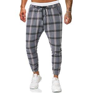 New Men Sweatpants Fashion Casual Men Pants Plaid Streetwear Joggers Men Cotton Blended Hip Hop Runners High Quality Trousers