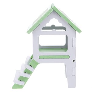 1pcs Pet Supply House New mode Hamsters Toy Garret Lits colorés Écureuils Sleeping Loft Pet Toy Matériel vert
