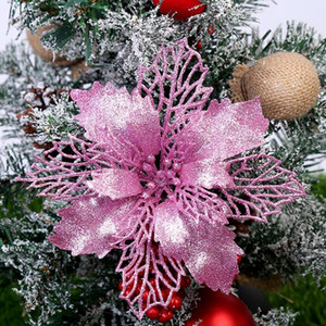 Molde flor de la Navidad DIY de acero al carbono troqueladora del brillo del árbol de navidad colgado Flor Flor de las flores artificiales de Navidad Decoración OOA7416-5