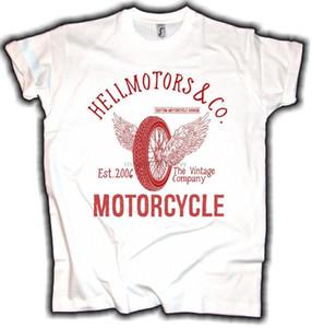 Hombre de las camisetas Moda del motorista blanco volando Rueda Rot vendimia Oldschool Motocicleta Motorrad algodón 100% Tee Shirts