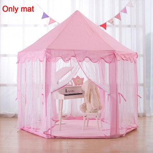 Kinder Hexagonal Prinzessin Zelte Passende Samt-Auflage-Baby-Spieldecke Auflage-Matte Climbing