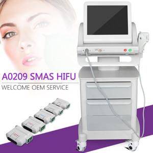 Медицинский класс HIFU Высокоинтенсивный сфокусированный ультразвук Hifu Face Lift Machine Удаление морщин с 5 головками для лица и тела Бесплатная доставка