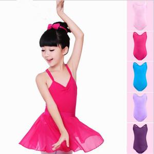 Enfants Designer Vêtements Justaucorps Filles Ballet Gymnastique Body Dance Suit Dancewear Double sangle croisée Enfants Filles Yoga Robe sans manches