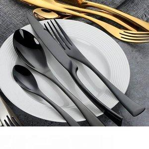 Acheteur Étoile élégant Set Vaisselle Couverts Couverts en acier inoxydable 304 Ustensiles de cuisine Vaisselle Inclure couteau fourchette cuillère 18 10