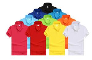Futebol Vire colarinho roupas logotipo de manga curta camisa de publicidade personalizada T-shirt impresso POLO cultural terno grupo empresarial atacado
