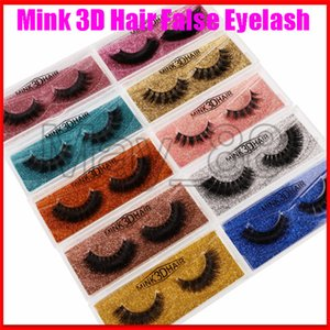 22020 New Arrival Mink Lashes 3D Silk Protein Mink False Eyelashes Long Lasting Lashes Natural Mink Eyelashes Beautiful Box Packaging