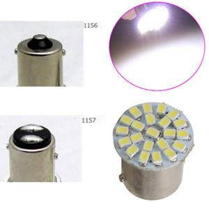 P21W 1156 BA15S 1157 Bay15d 22SMD Car LED Bulb Auto Rear Turn Signal Lights brake Reverse Parking Lamp DC 12V White 22 SMD