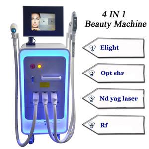 3000w 4 in 1 IPL-Haarentfernung IPL rf Laser Yag Tattooentfernung Maschinen 3 Griffe multifunktionale Schönheit Ausrüstung freies Verschiffen
