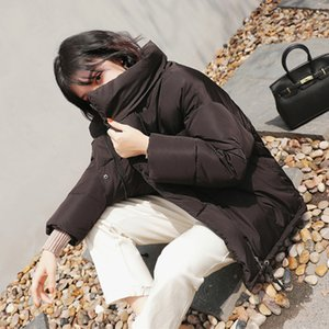 Down Jacket Women Womans Coats Womens Winter Down Cotton Padded Jacket Warm Coats Short Parkas Bread Style Oversize Loose Outwear
