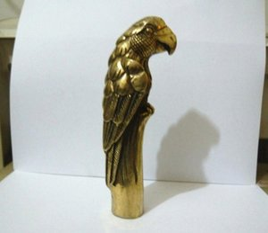 Coopper statue 100% bronze Cuivre Laiton pur Grandpa Bonne chance collection Old CHINOIS VIEUX CUIVRE Sculpté à la main WALKING EAGLE STATUE