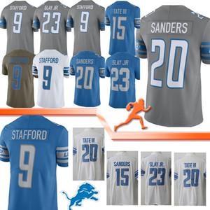 ديترويت Jerseys Lion 9 Matthew Stafford 20 Barry Sanders 23 Darius Milling Jr 15 Golden Tate III