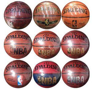Calidad superior Bolas de Size7 PU Interior de cuero al aire libre Cesta de baloncesto Pelota de baloncesto Equipo de entrenamiento con y Pin Envío gratuito