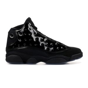 13 gorra y vestido nuevos 13s zapatos de baloncesto baratos de charol negro para hombre zapatillas de deporte con caja