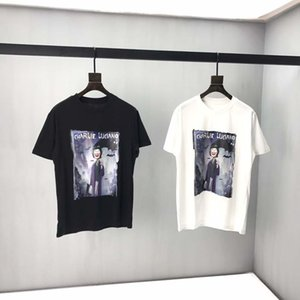 Free Shipping2020High Quality Women's Prints Summer Couple Wear Letter Print Top T-Shirt Casual Cotton Short Sleeve T-Shirt EU Size S-XXL0