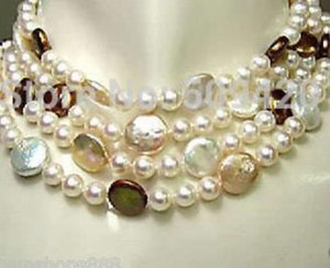 """Collana Free Noblest genuine 3Color 13-14mm sea south pearl necklace necklace long 70 """"inch"""