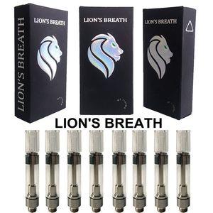 Os mais recentes Lions respiração vapes Cartuchos Embalagem Vape Pen 510 Tópico Oil Carrinhos E Atomizer cigarro Rodada Imprensa Dica vaporizador transporte rápido