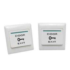 2pcs Porte sortie Bouton poussoir Interrupteur de libération de verrouillage magnétique de porte de contrôle d'accès