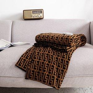 Marca C E N D Manta de la vendimia de doble cara de tejer Aire Acondicionado acrílico manta caliente Sofá cama paño grueso y suave manta hecha punto Throw
