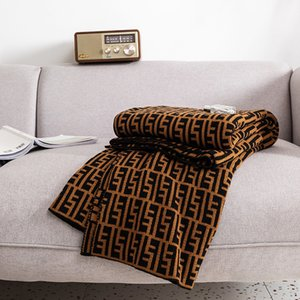 Marke F E N D Decke Vintage Doppelseitige Strickklimaanlage Acryldecke Warm Schlafsofa Fleece gestrickte Decke