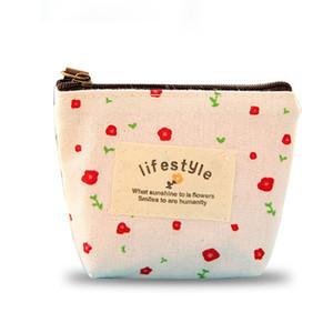 꽃 꽃 연필 펜 캔버스 케이스 화장품 작은 메이크업 도구 가방 보관 파우치 지갑 무료 DHL (382)