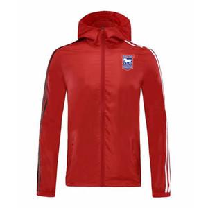 2020 ipswich manches longues sport veste de football Veste à capuche à fermeture éclair trench manteau imperméable respirant manteau décontracté et confortable