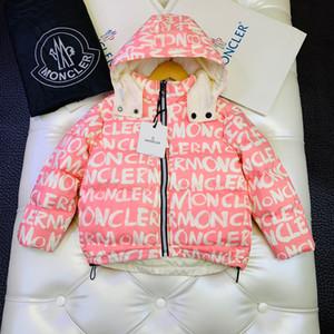 Дети пуховик Дети дизайнер одежды зимней моды двуличная вниз пальто куртки мальчиков и девочек новые четыре цвета