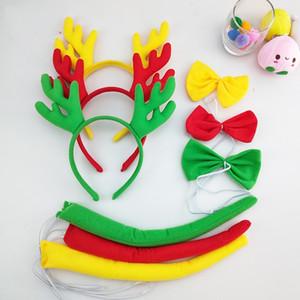 Elk Navidad Pequeños Animales Sombrero Maquillaje Bola Xiaoqinglong Cabello Aro Show Prop Huanglong Horquilla Horquilla Venta directa de la fábrica