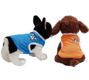 10PCS LOT Hot Selling Candy Color Pet Summer Clothes Cute Small Dog Cat T-shirt Cotton Vest Outdoor Pet Dog Cloth