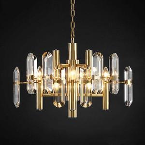 LED Creative Design Современные хрустальные люстры Luxury Living Room Gold Подвесной светильник Золото Главная Декоративное освещение Luster 90-265V