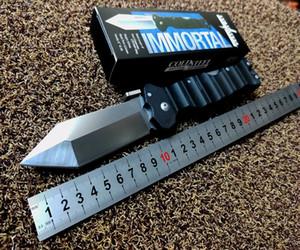 Холодная сталь 23HVG бессмертна складной нож 4 дюйма D2 обычное лезвие, черный Грив-Ex ручка