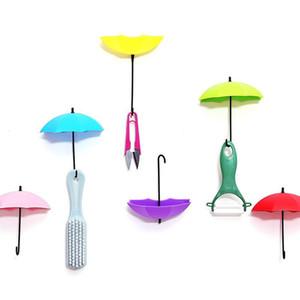 3 pçs / set Ganchos De Parede Para Umbrella Shaped Dupla Chave Cabide Titular Rack Para Cozinha Quarto Banheiro Decorativo Da Parede Do Organizador de Varejo Pacote HH9-2251