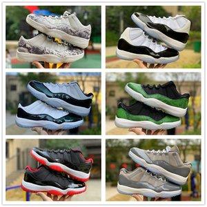 11s 11 mayor de la manera de los zapatos de baloncesto de las mujeres y los hombres Concord 45 Platinum Tint casquillo cereza y vestido Space Jam zapatos del diseñador zapatillas de deporte