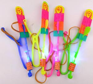 Tamanho grande Seta LED Helicóptero Seta Voando Helicóptero Guarda-chuva Crianças Brinquedos Espaço UFO LED Brinquedos de Luz de Natal Do Dia Das Bruxas Flash Brinquedos